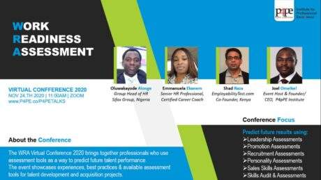 Work Readiness Assessment Conference 2020